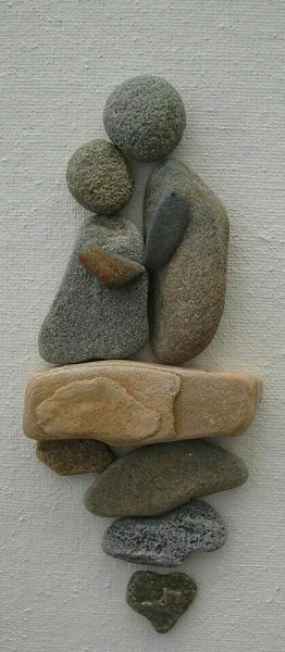 Stone Art Wedding Gift : 60 DIY Stone Arts and CraftsI love Pink