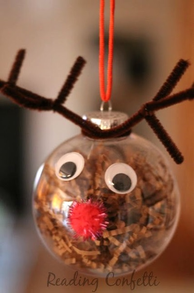 50 christmas reindeer decorations to make i love pink for Homemade christmas ornaments to make