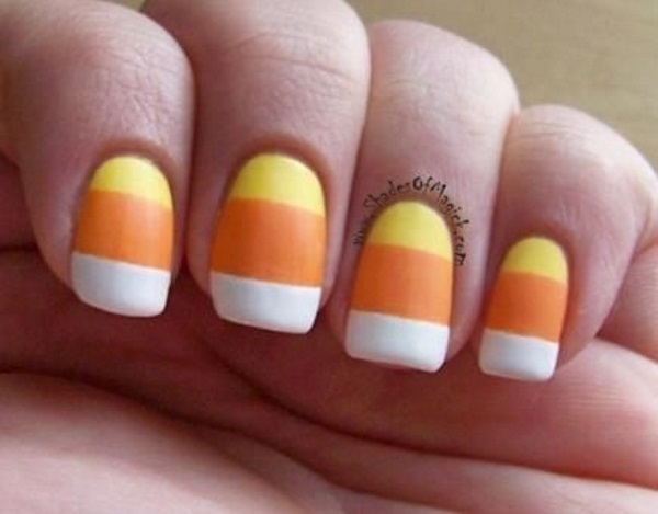 Candy Corn Nail Art Designs Pink Lover