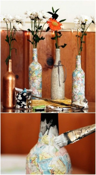 60 DIY Glass Bottle Craft Ideas for a Stylish Home - Pink ... - photo#9