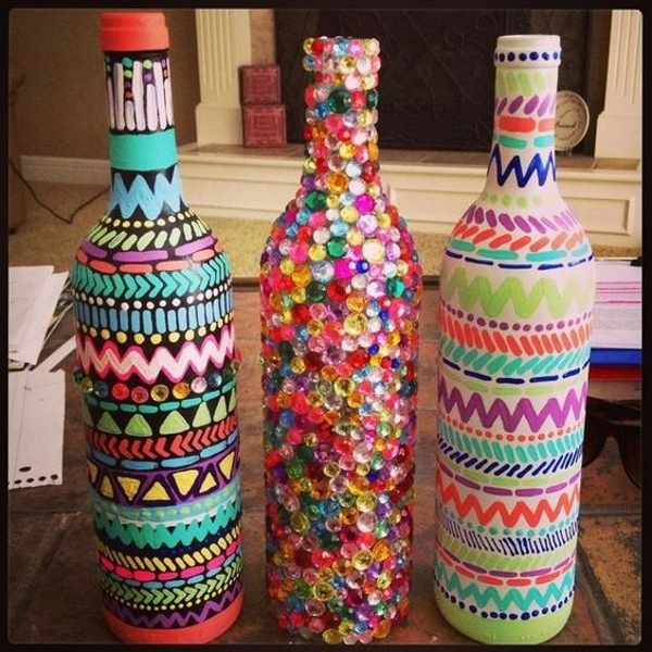 craft ideas wine bottles all about - Home Decor Crafts