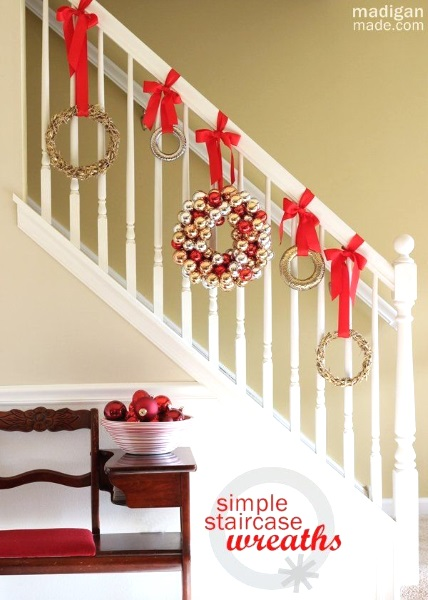 christmas staircase decorating ideas pink lover beautiful banister decorated with garland and ribbon with decorating banisters for christmas with ribbon - Decorating Banisters For Christmas With Ribbon