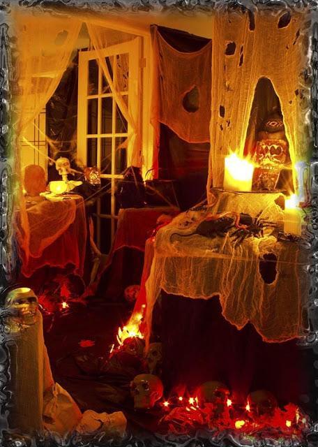 Halloween 2oo4 haunted house set up.