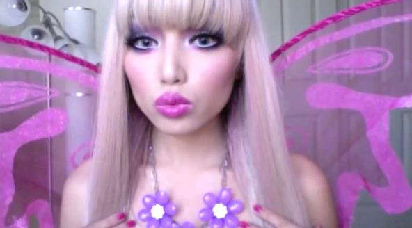 beautymakeupv watch the Barbie makeup tutorial on YouTube.