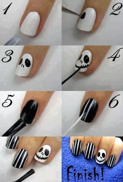 halloween-skull-nail-art-designs - Halloween-skull-nail-art-designs - Pink Lover