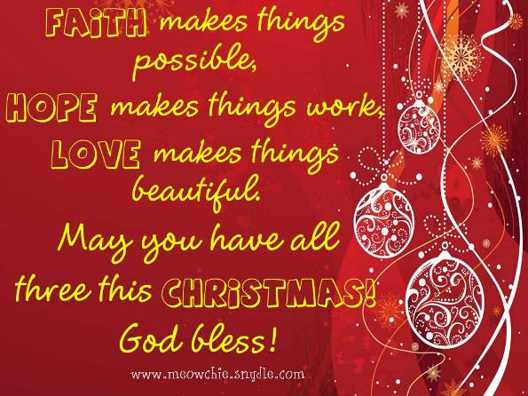Inspirational Christmas Greeting Message