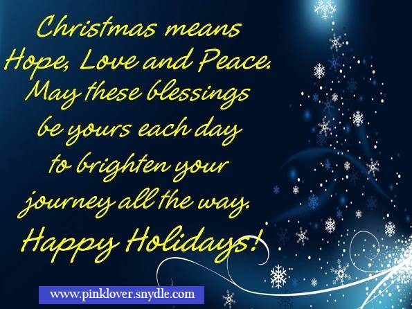Christmas Quotes And Sayings   Pink Lover
