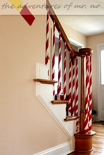 image source image source creative christmas staircase decorating ideas - Staircase Christmas Decorating Ideas