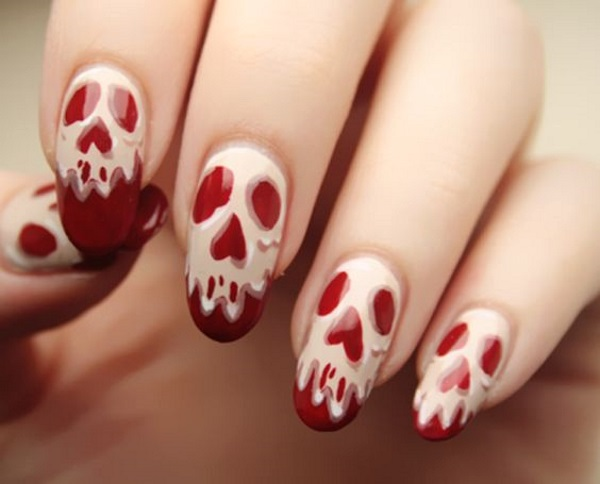 scary-skull-nail-designs - Scary-skull-nail-designs - Pink Lover