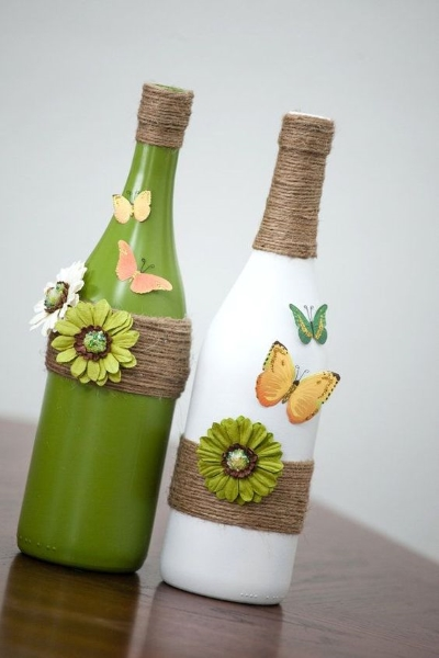 Decorate A Glass Bottle Brilliant 60 Diy Glass Bottle Craft Ideas For A Stylish Home  Pink Lover Decorating Inspiration