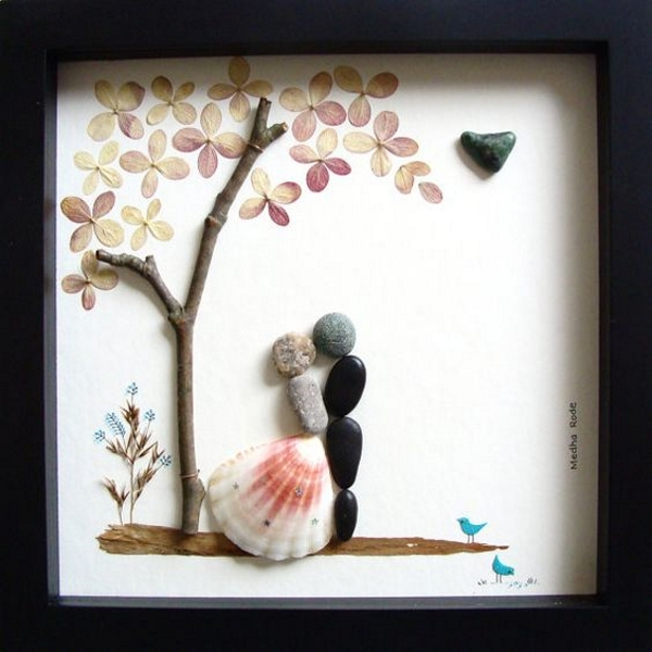 Wedding Gift Ideas Online : 60 DIY Stone Arts and Crafts - I love Pink
