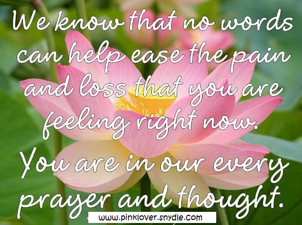 condolences quotes and sayings