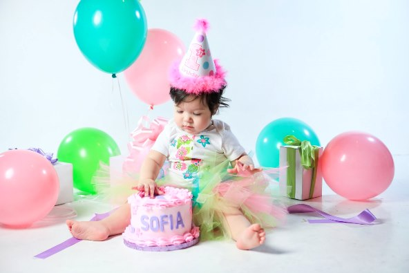 Baby First Birthday Cake Pics