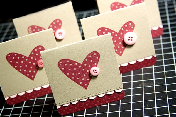 Adorable Valentines Day Handmade Card Ideas I love Pink – Hand Made Valentine Card