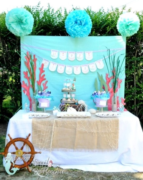 Diy little mermaid decorations diy do it your self for Ariel birthday decoration ideas