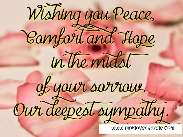 Sympathy Card Messages, Quotes And Sayings - I Love Pink