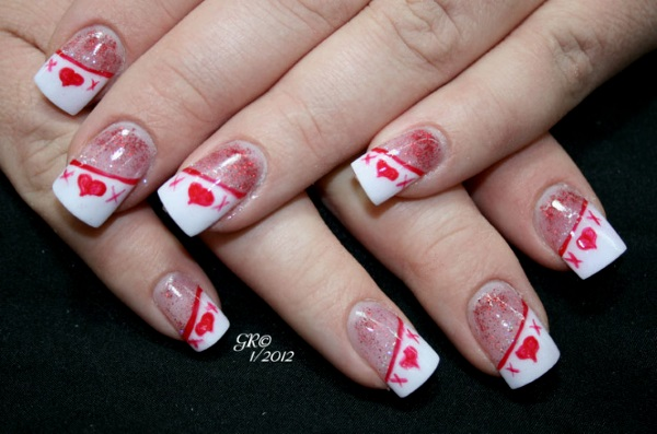 image source image source - 50 Best Valentines Day Nail Art Designs - Pink Lover