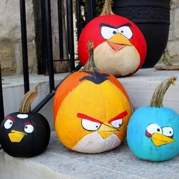 Diy angry birds birthday party ideas pink lover Easy pumpkin painting patterns
