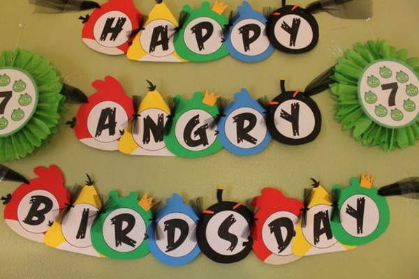 DIY Angry Birds Birthday Party Ideas Pink Lover