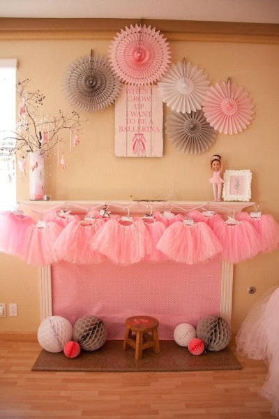 60 diy ballerina birthday party ideas pink lover for Party backdrop ideas