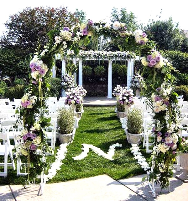 43 Best Outdoor Wedding Entrance Ideas I love Pink