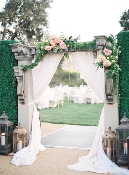 Beautiful Garden Wedding Ideas: 43 Best Outdoor Wedding Entrance Ideas