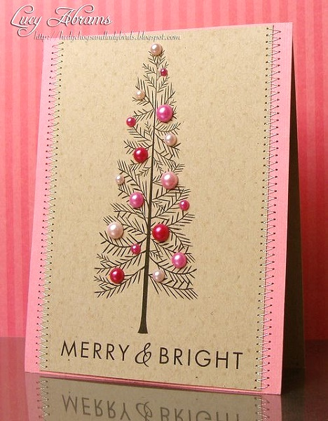 image source image source button christmas balls diy christmas card - Handmade Christmas Cards Ideas