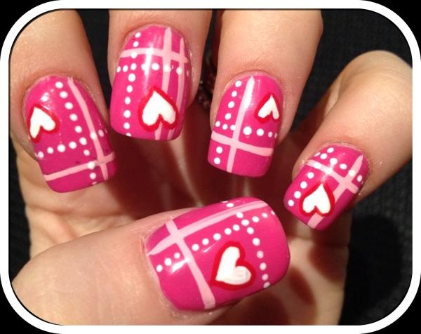50 Best Valentines Day Nail Art Designs Pink Lover