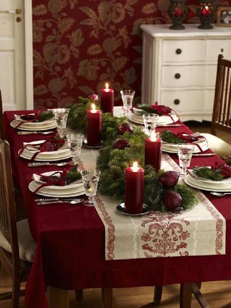 Greenery Christmas Table Decor Image Source