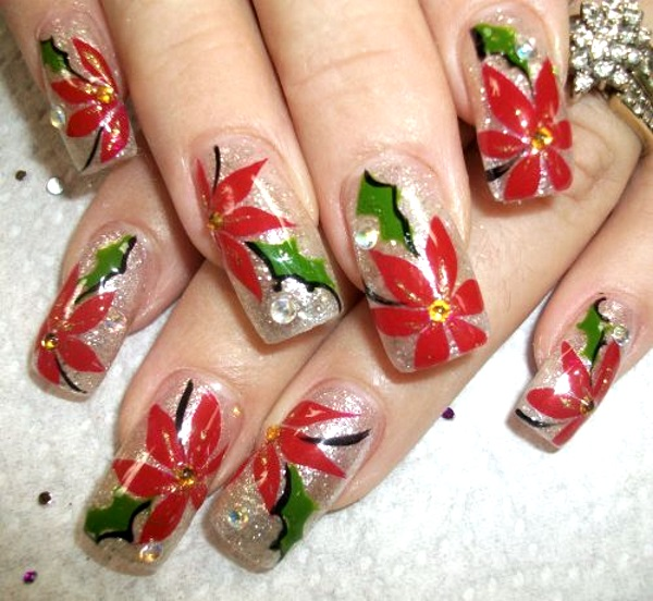 Best christmas nail art designs pink lover image source image source prinsesfo Image collections