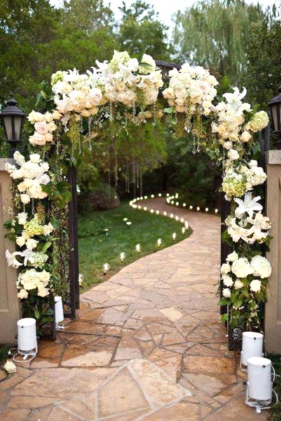 43 best outdoor wedding entrance ideas pink lover for Garden entrance designs