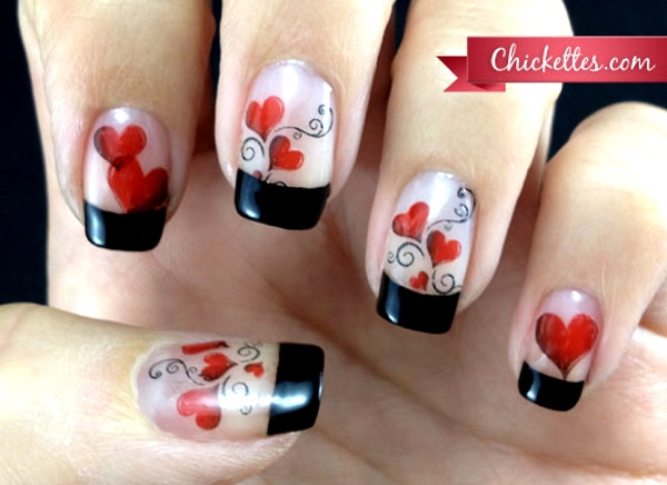 50 Best Valentines Day Nail Art Designs Pink Lover