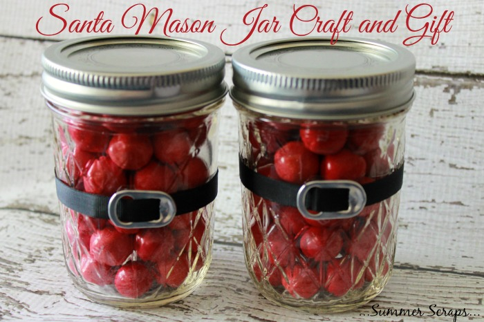 50 amazing mason jar christmas crafts pink lover santa mason jar crafts and gift diy image source solutioingenieria Image collections