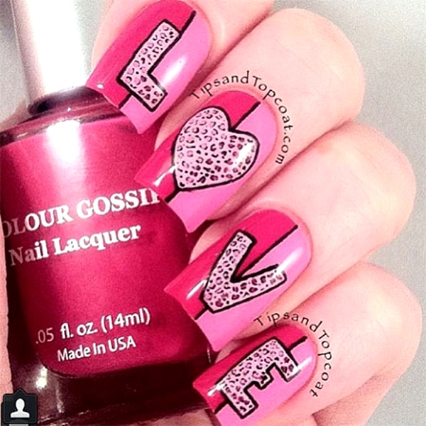50 Best Valentines Day Nail Art Designs - Pink Lover