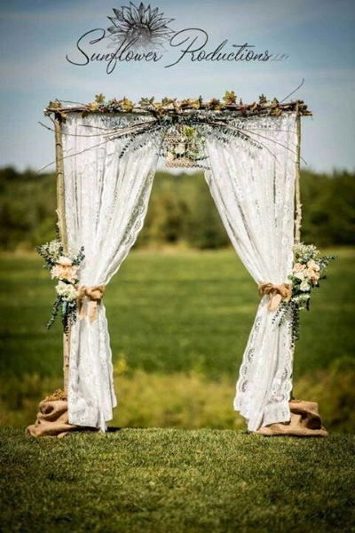 60 best garden wedding arch decoration ideas pink lover for Archway decoration