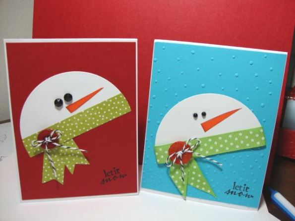 60 handmade christmas cards pink lover for Christmas card ideas to make at home