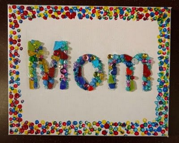 Kids Craft Mosaic With Card