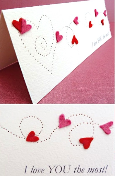 Adorable valentines day handmade card ideas pink lover for Creative valentine day cards