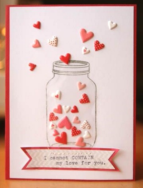 Adorable Valentines Day Handmade Card Ideas Pink Lover – How to Make a Cute Valentines Day Card