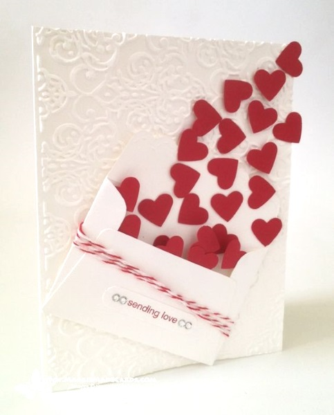 Adorable valentines day handmade card ideas pink lover for What to put on a valentines card