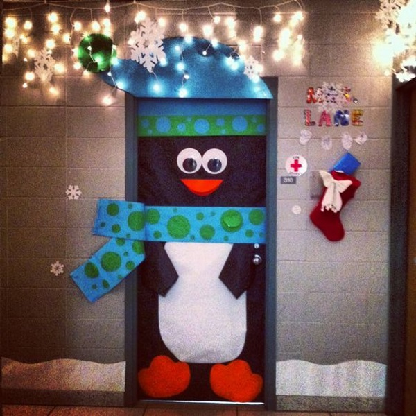 School Office Decor Christmas Gingerbread House Door: 50 Adorable Penguin Christmas Decorations From Pinterest