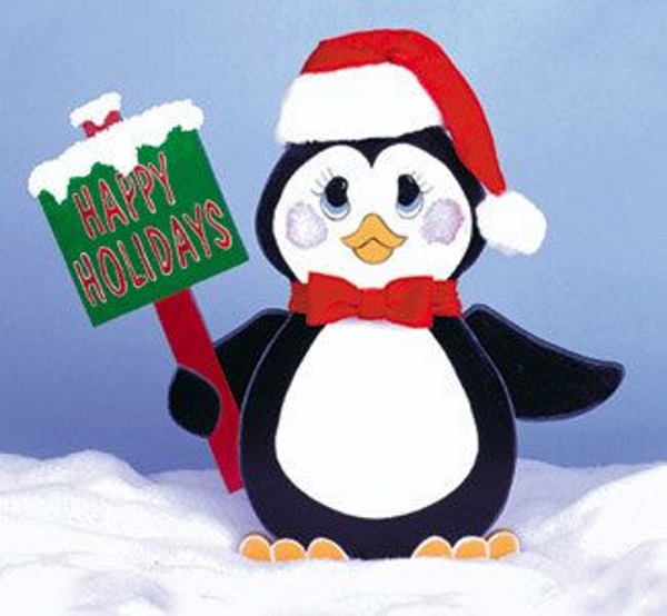 penguin wood christmas yard decorations image source - Christmas Outdoor Decoration Patterns