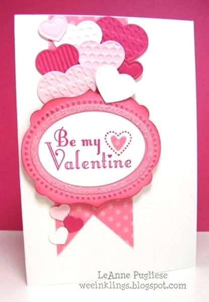 Adorable Valentines Day Handmade Card Ideas I love Pink – Valentine Heart Cards