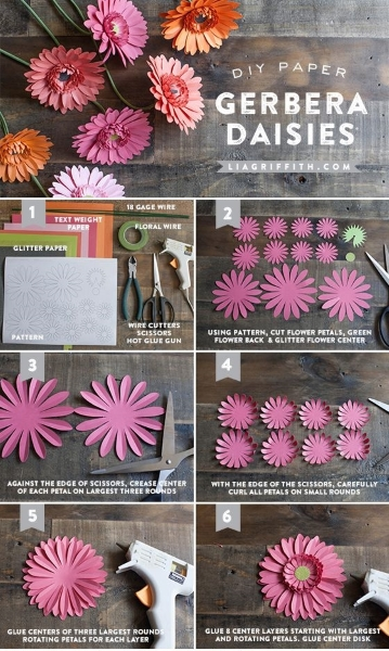 Diy paper flower crafts and projects pink lover image source image source diy crepe paper amaryllis mightylinksfo