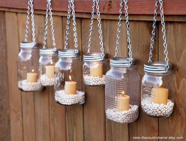 50 amazing mason jar christmas crafts pink lover hanging mason jar lanterns image source solutioingenieria Image collections