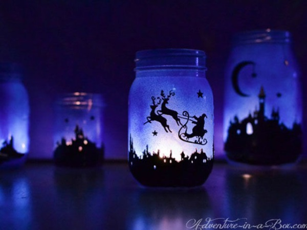 50 Amazing Mason Jar Christmas Crafts Pink Lover
