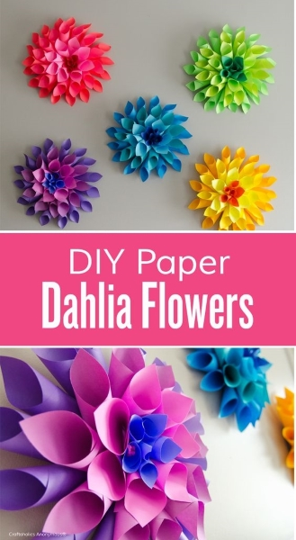 Diy paper flower crafts and projects pink lover diy paper dahlia flowers image source mightylinksfo