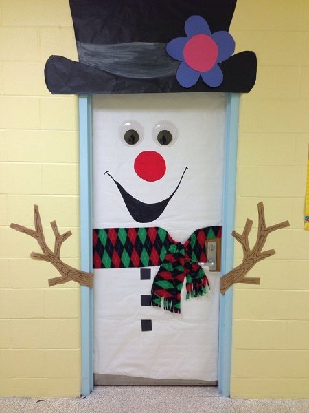 image source image source diy snowman christmas door decoration ideas