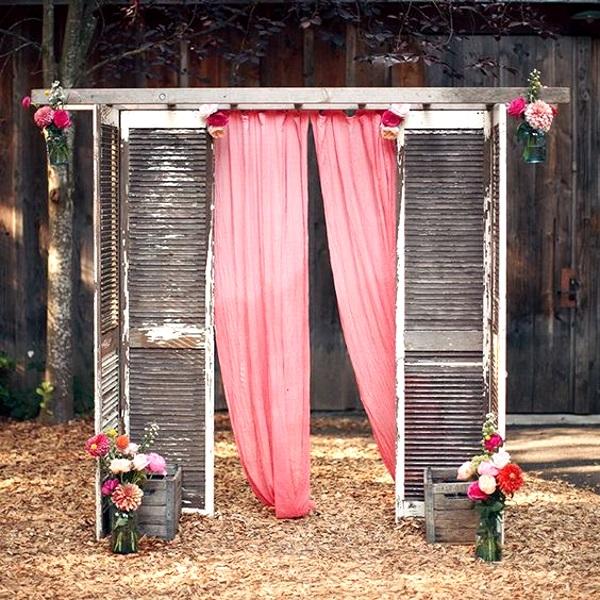 Rustic Back Yard Wedding Ideas: 43 Best Outdoor Wedding Entrance Ideas