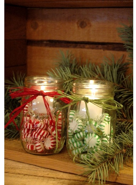 50 amazing mason jar christmas crafts pink lover for Christmas craft table decorations